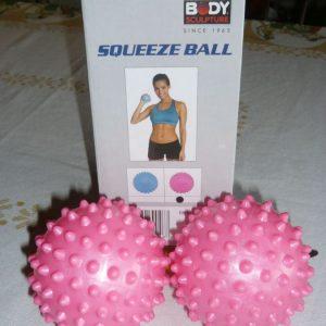 Reflexní míčky Squeeze ball – měkký míč s ventilkem 7,5 cm-sada 2 ks